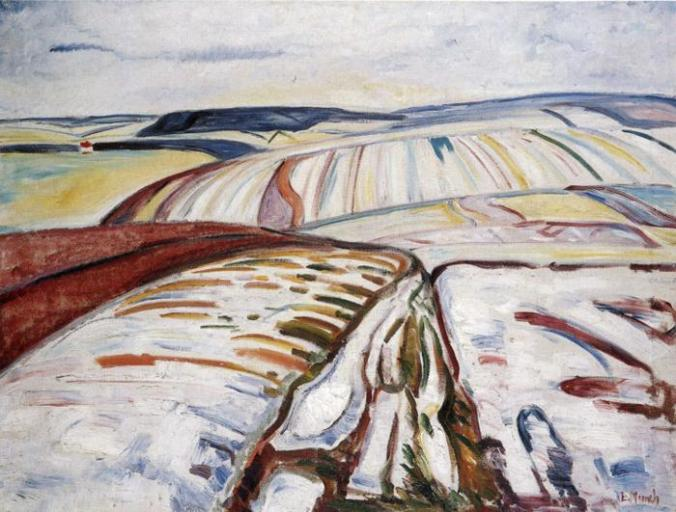 Edvard Munch. Winter Landscape, Elgersburg. 1906. Oil on canvas. 84 x 109 cm. Munch Museum, Oslo, Norway.