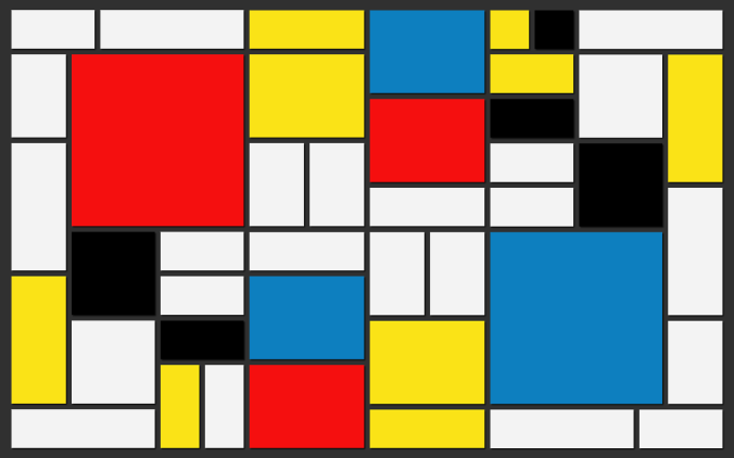 Abstract Cubes - Mondrian